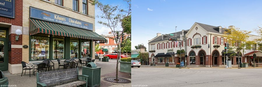 Lake Geneva's charming downtown